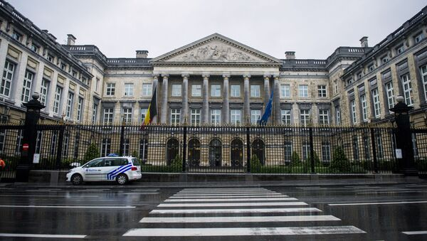 Siedziba parlamentu federalnego Belgii w Brukseli - Sputnik Polska