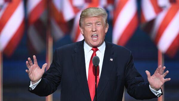 Kandydat na prezydenta Partii Republikańskiej USA Donald Trump - Sputnik Polska