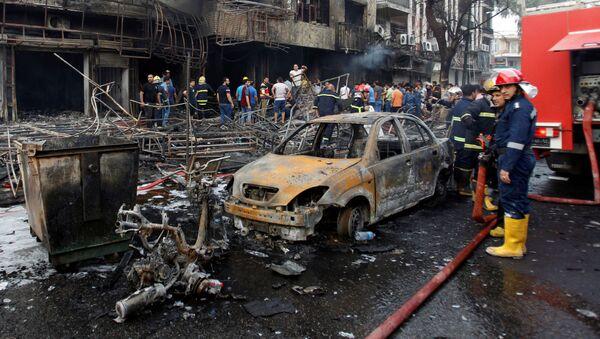 Zamach w w Karradzie, dzielnicy Bagdadu - Sputnik Polska