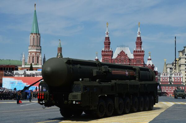 """System rakietowy """"Jars"""" na Placu Czerwonym, 9 maja 2015 - Sputnik Polska"""
