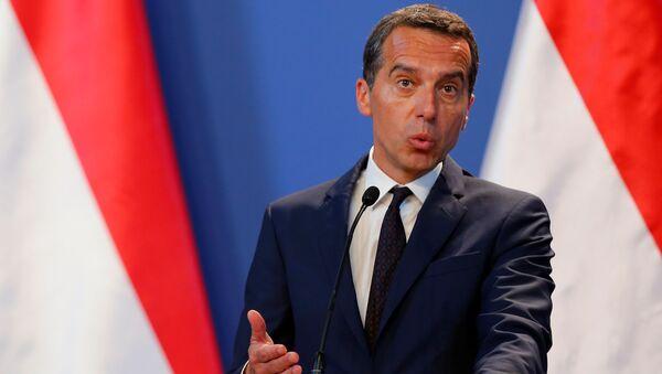 Kanclerz Austrii Christian Kern - Sputnik Polska