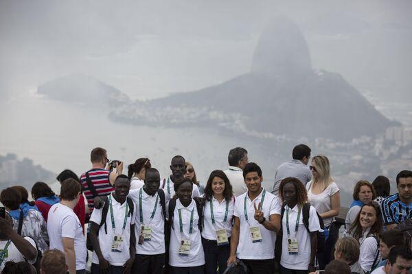 Członkowie reprezentacji olimpijskiej uchodźców w Rio de Janeiro - Sputnik Polska