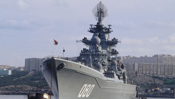 """Krążownik atomowy """"Admirał Nachimow"""" projektu 1144 Orłan  - Sputnik Polska"""
