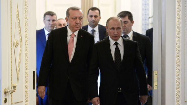 Spotanie prezydentów Rosji i Turcji, Władimira Putina i Recepa Tayyipa Erdogana, w Petersburgu - Sputnik Polska