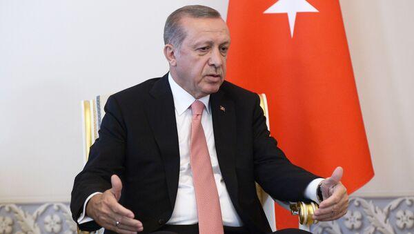 Spotkanie prezydentów Rosji i Turcji Władimira Putina i Recepa Tayyipa Erdogana w Petersburgu - Sputnik Polska