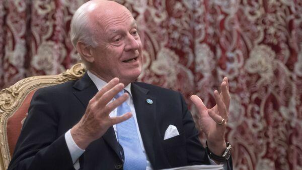 Specjalny wysłannik sekretarza generalnego ONZ do Syrii Staffan de Mistura - Sputnik Polska