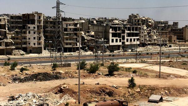 Zniszczone budynki w Aleppo, Syria - Sputnik Polska