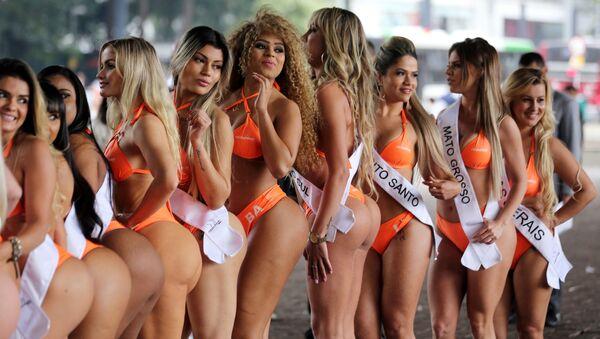 Uczestniczki konkursu Miss BumBum Brazil 2016 - Sputnik Polska