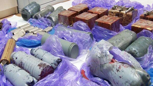 Urządzenia wybuchowe znalezione w trakcie zatrzymania ukraińskich dywersantów na Krymie. - Sputnik Polska