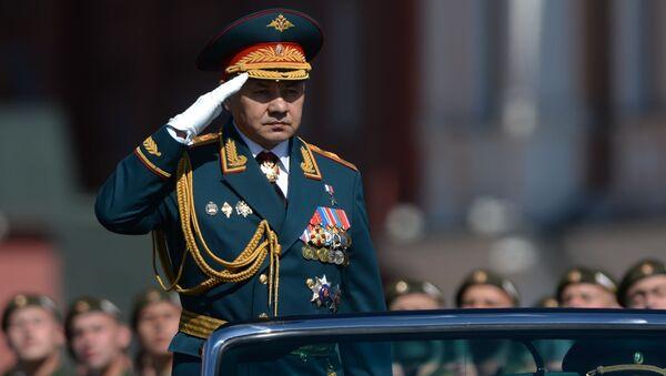 Siergiej Szojgu, minister obrony Rosji, podczas Parady Zwycięstwa na Placu Czerwonym - Sputnik Polska