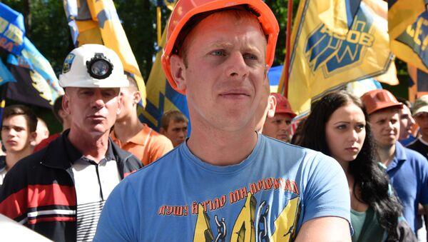 Protest górników w KIjowie - Sputnik Polska
