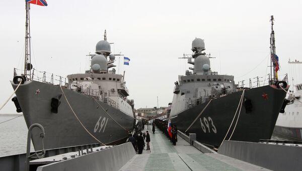 """Okręty rakietowe """"Dagestan"""" i """"Tatarstan"""" - Sputnik Polska"""