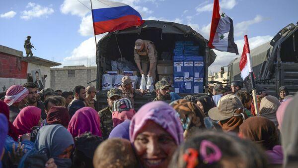 Rosja stała się pierwszym krajem na świecie, który zapewnił pomoc humanitarną ludności Syrii. - Sputnik Polska