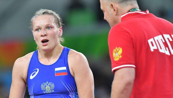 Rosjanka Inna Trażukowa w wlace o trzecie miejsce w zapasach w stylu wolnym na Olimpiadzie w Rio - Sputnik Polska