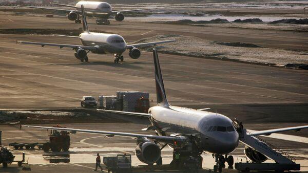 Airbus-319, Airbus-320 and Boeing-767 at Sheremetyevo airport - Sputnik Polska