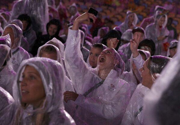 Uczestnicy ceremonii zamknięcia XXXI Letnich Igrzysk Olimpijskich - Sputnik Polska