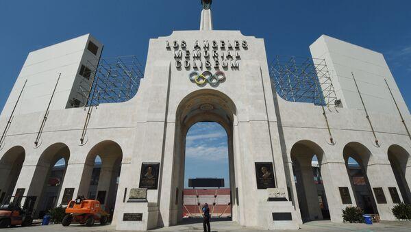 "Wejście na stadion ""Memorial Coliseum"" w Los Angeles - Sputnik Polska"