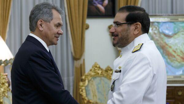 Minister obrony Rosji Siergiej Szojgu i sekretarz Rady Najwyższej Bezpieczeństwa Narodowego Iranu Ali Shamhani - Sputnik Polska