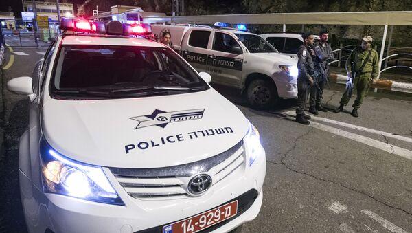 Radiowóz na miejscu przestępstwa w Izraelu - Sputnik Polska