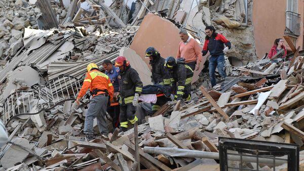 Trzęsienie ziemi we Włoszech - Sputnik Polska