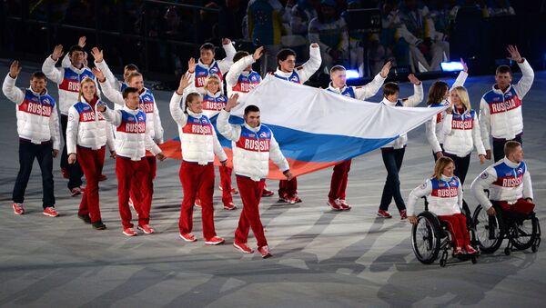 Ceremonia zamknięcia XI Zimowych Igrzysk Paraolimpijskich w Soczi - Sputnik Polska