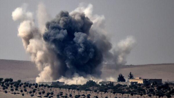 Atak armii tureckiej na syryjskie miasto Jarabulus - Sputnik Polska