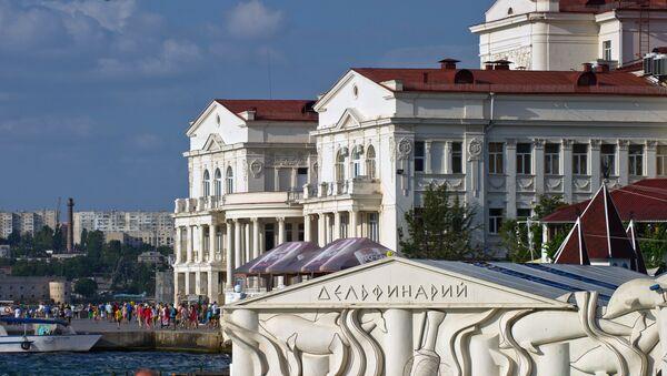 Budynek delfinarium i Pałac Twórczości Dzieci i Młodzieży w Sewastopolu. - Sputnik Polska