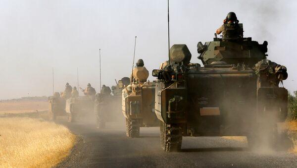 Tureckie czołgi na granicy z Syrią - Sputnik Polska