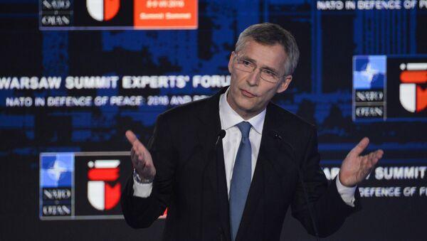 Sekretarz generalny NATO Jens Stoltenberg na szczycie NATO w Warszawie - Sputnik Polska