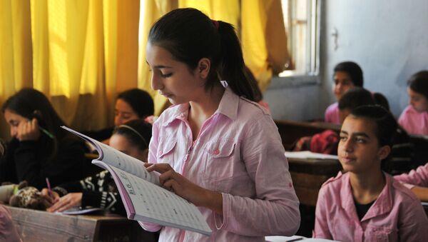 Lekcja z języka rosyjskiego w syryjskiej szkole - Sputnik Polska