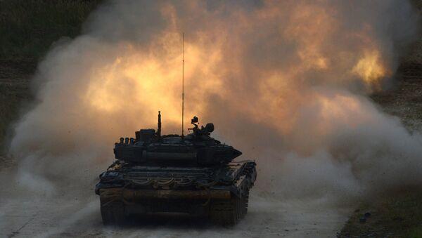 Czołg T-90 na międzynarodowym forum Armia-2016 - Sputnik Polska
