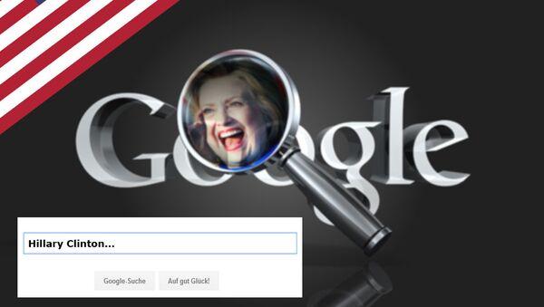 Google zadba o miliony głosów dla Clinton - Sputnik Polska