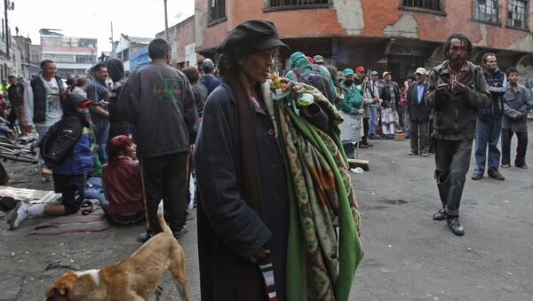 Narkomani na Bronxie, Bogota, Kolumbia - Sputnik Polska