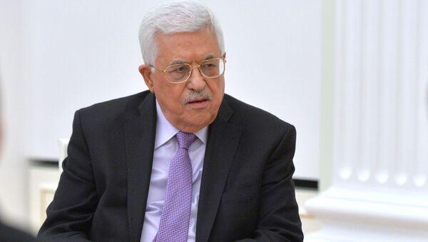 Przywódca Palestyńskich Władz Narodowych Mahmud Abbas w czasie spotkania prezydentem Rosji Władimirem Putinem na Kremlu - Sputnik Polska