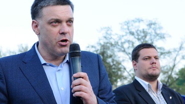 Lider partii nacjonalistycznej Swoboda Ołeh Tiahnybok - Sputnik Polska