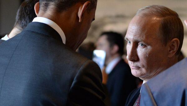 Władimir Putin i Barack Obama - Sputnik Polska