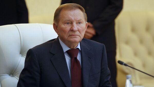 Przedstawiciel Kijowa na rozmowach w Mińsku Leonid Kuczma - Sputnik Polska
