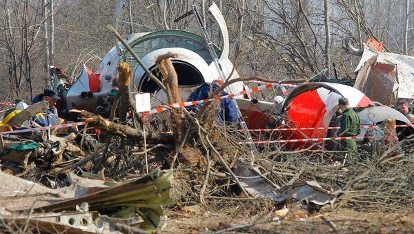 Miejsce katastrofy prezydenckiego Tu-154 pod Smoleńskiem - Sputnik Polska