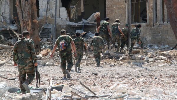 Syryjska armia odbiła z rąk terrorystów terytorium akademii wojskowych w Aleppo - Sputnik Polska