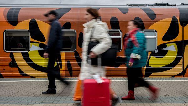 Pasażerowie z walizkami - Sputnik Polska