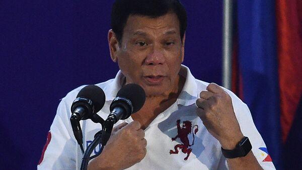 Filipiński prezydent Rodrigo Duterte - Sputnik Polska