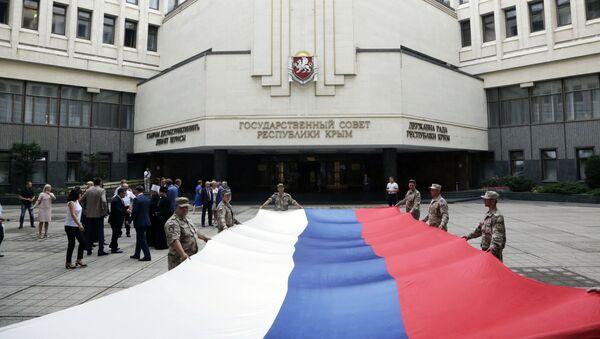 Obchody Dnia Flagi Rosyjskiej w Symferopolu - Sputnik Polska