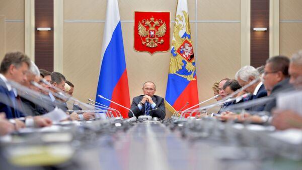 Prezydent Rosji Władimir Putin. Posiedzenie Rady ds. Rozwoju Strategicznego - Sputnik Polska