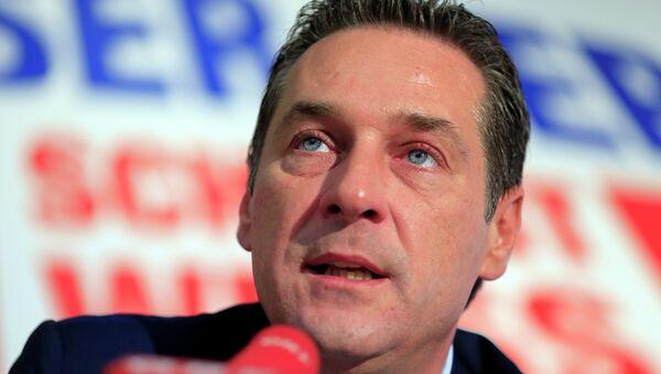 Szef FPÖ Heinz-Christian Strache - Sputnik Polska