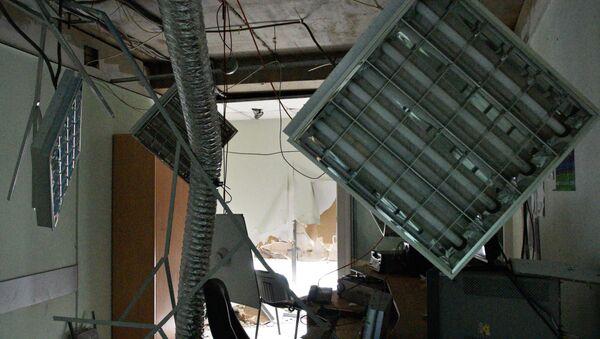 Skutki pożaru w budynku telewizji Inter w Kijowie - Sputnik Polska