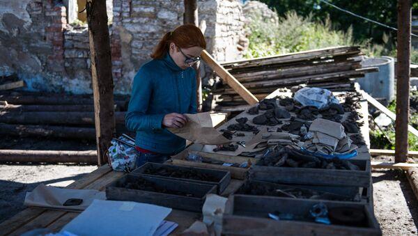 Znalezisko archeologiczne w Pskowie - Sputnik Polska