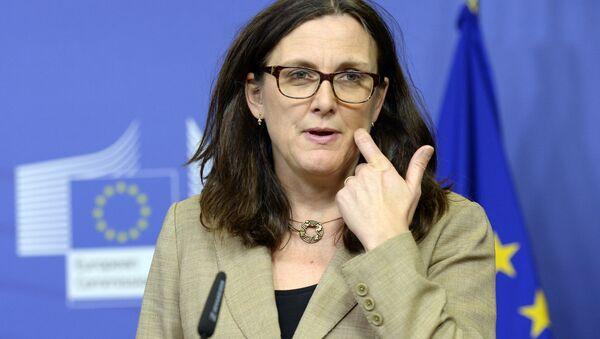 Europejska komisarz ds. handlu Cecilia Malmstrom - Sputnik Polska