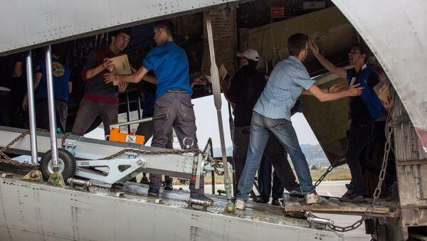 Rosja dostarczyła do Aleppo pomoc humanitarną - Sputnik Polska