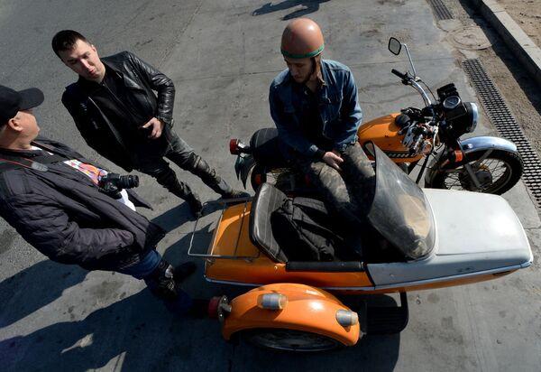 Zamknięcie sezonu motocyklowego we Władywostoku - Sputnik Polska