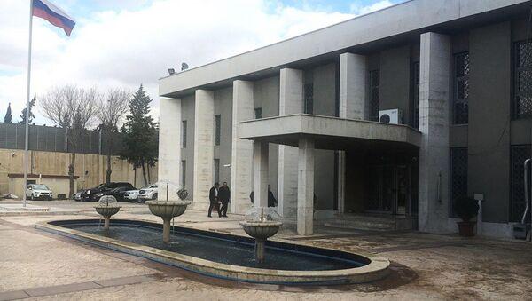 Budynek ambasady Rosji w Damaszku - Sputnik Polska